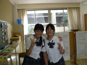 g3 9-12-10 3rd grader and friend at the writing club.JPG